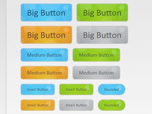 Bubble Button CSS Style Example