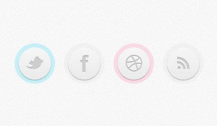 Circle Button CSS Style Example
