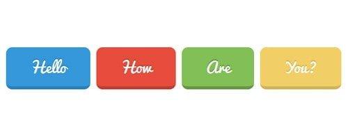 Cursive Buttons CSS