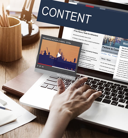 content writing services page